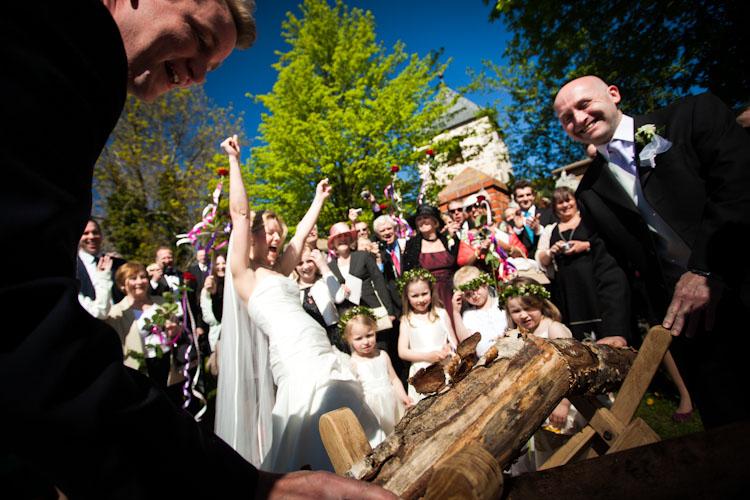 Hochzeit mit Baumstammsägen in Bad Doberan