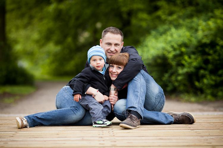 Familienfotos im Park