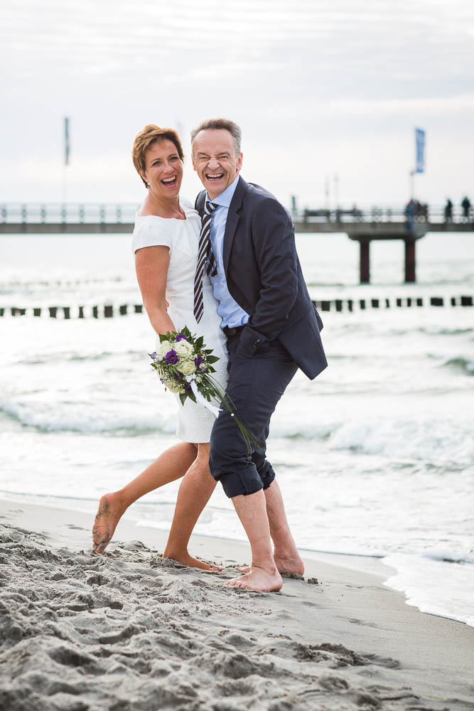 After Wedding Fotoshooting Am Strand Von Zingst Fotowelle Studio