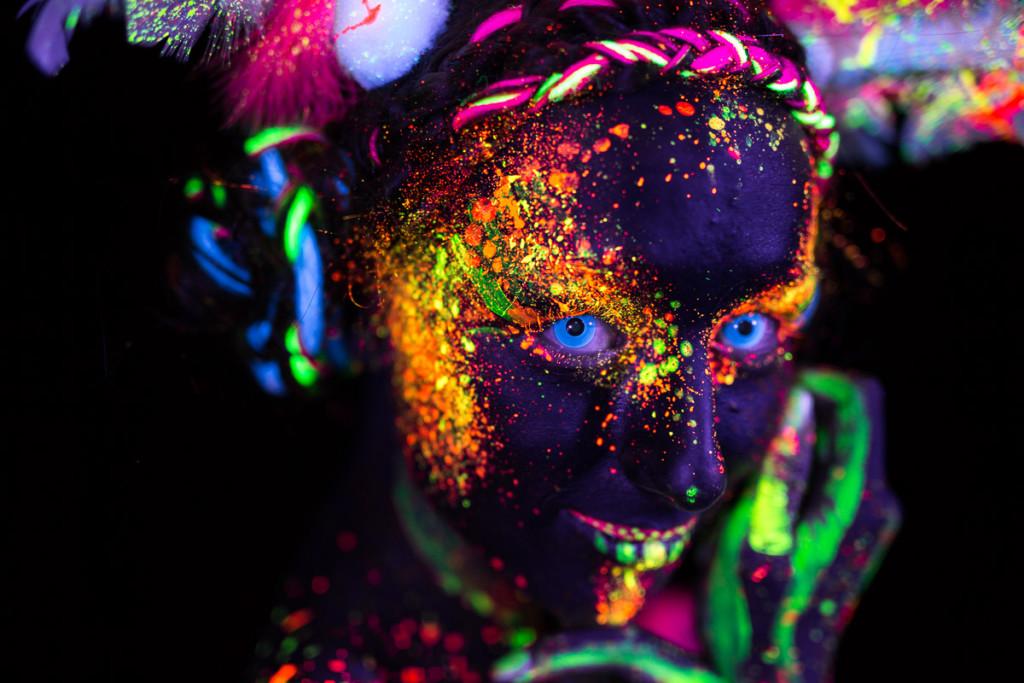 UV Bodypainting Portrait