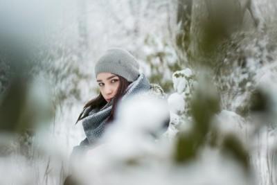Schnee Fotoshooting in Rostock