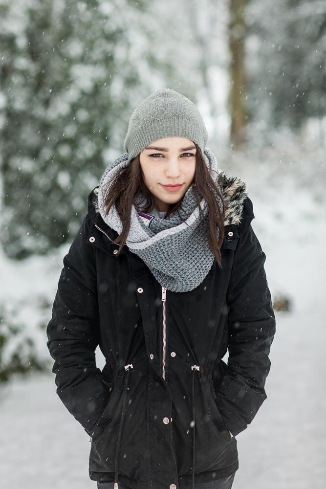 Portrait im Schnee